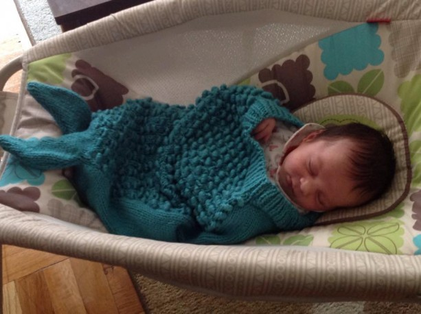 Mermaid Tail Blanket, Newborn to 12 Months