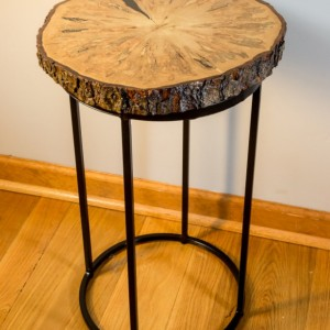 Live Edge, Natural Edge Ambrosia Maple End Table