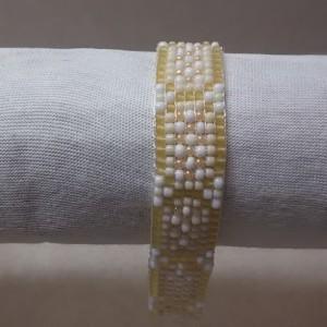 Yellow and Cream Bracelet