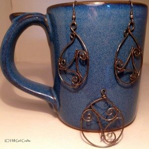 Wire wrapped jewelry, sterling silver celtic knot , handmade jewelry, sterling earrings
