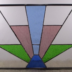 Art Deco Style Stained Glass Panel