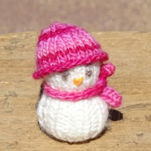 Snowman, Knitted Snowman, Tree Ornament, Holiday, Free Shipping
