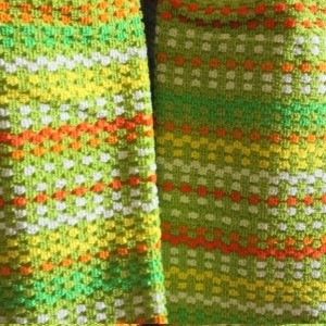 Lime Blast Crochet Top Kitchen Towel, Set of 2
