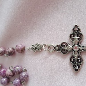 Rosary Beads - Lavender Owl