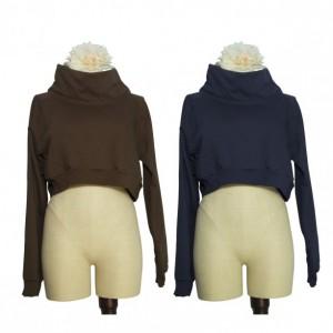 Activewear Funnel Neck Cropped Sweatshirt