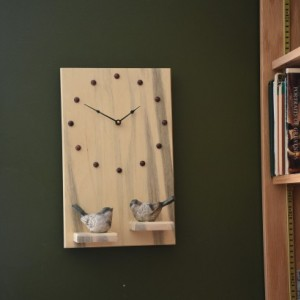 Wall Clock with shelves