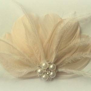 Wedding Hair Accessories, Feather Hair Clip, Bridal Hair Comb, Wedding Fascinator, Bridal Hair Accessories, Feather Accessories, Hair Comb