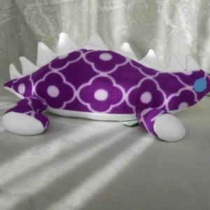 Small Purple Patterned Stegosaurs Dinosaur