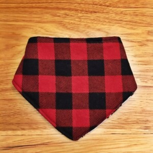 Deer Contoured Burp Cloth and Buffalo Plaid Reversible Bib Bandana, Lumberjack bib, Deer burp cloth, rustic baby shower gift, baby boy