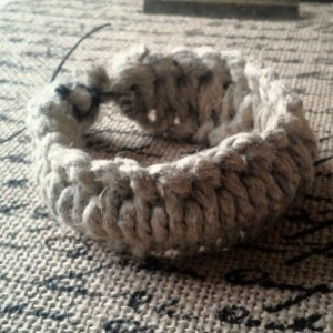 Thick Simple Macrame Hemp Bracelet