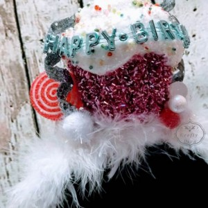 Happy Birthday Candy Cup Cake Headband