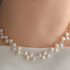 Sterling Silver Swarovski Freshwater Pearl Necklace