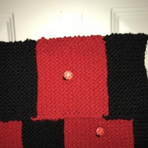 Handknit Ladybug Scarf