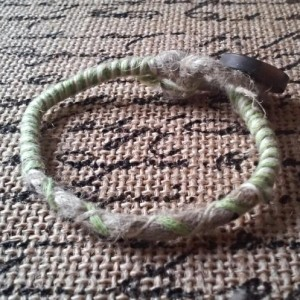 Simple Wrapped Natural Hemp Bracelet Mint Green