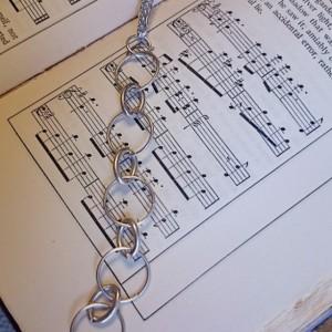 Silver Necklace, Circle Necklace, Circle Pendant, Long Necklace,  Long Pendant