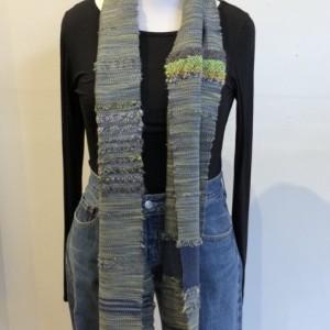 Handwoven Grey Wool Scarf