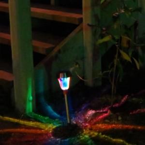 Hand-Painted Solar LED Rainbow Path Lights