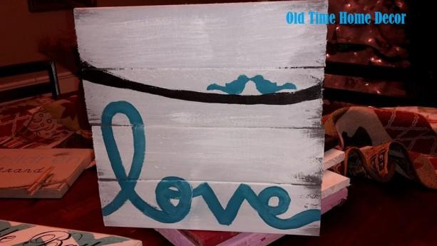 Love Pallet sign, Inspirational Pallet Sign, Wall art, Wall Decor, Home decor, Love birds, song birds, anniversary gift, wedding gift, decor