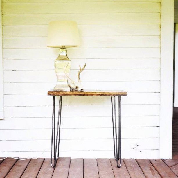 Foyer Table Hairpin Legs : The soleau pine wood hall table with hairpin legs aftcra