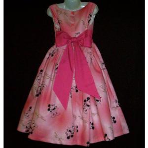 NEW Handmade Disney Mickey Mouse On Pink Jumper Dress Set Custom Sz 12M-14Yrs