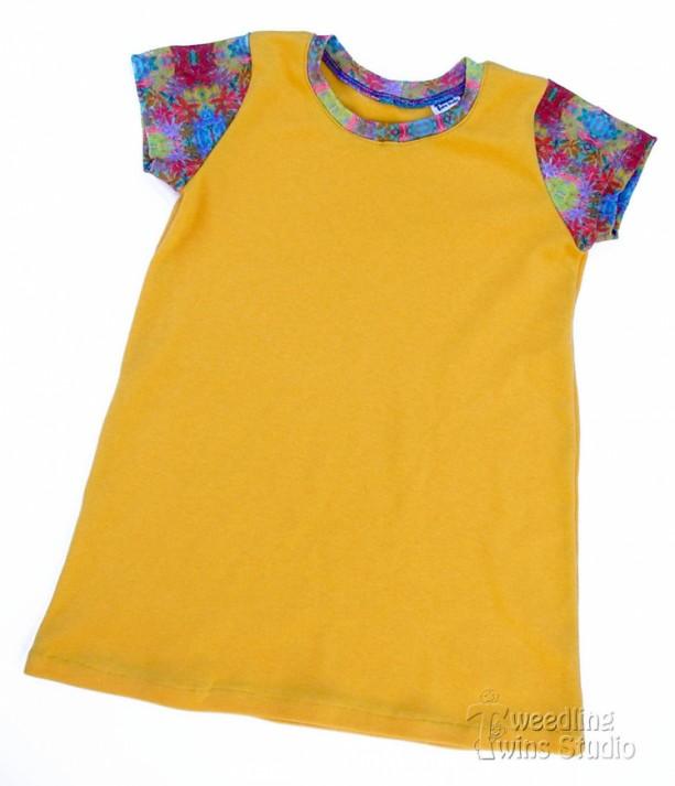 Baby - Toddler - Tshirt Dress - Custom Print Fabric - Wildflower