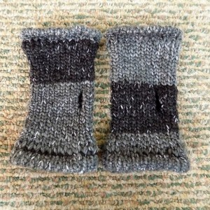'Shades of Gray' Knit Fingerless Gloves