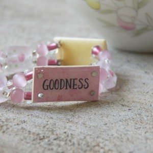 Truth Beauty Goodness Bracelet, Pink