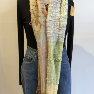 Wide Handwoven Cotton Scarf