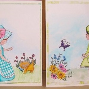 Little Primrose Watercolor Greeting Card Set