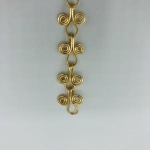 """7"""" Gold Linked Bracelet"""