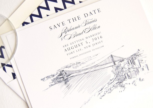 New York GWB Skyline Save the Dates (set of 25 cards)