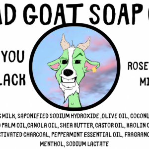 Once You Go Black - Activated Charcoal, Rosemary & Mint Goats Milk  By Baad Goat Soap Co.
