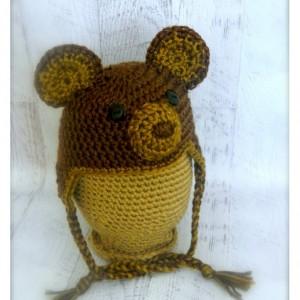 Brown Woodland Animal Teddy Bear Hat