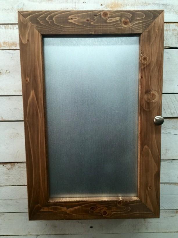Metal Cabinet Metal Medicine Cabinet  Galvanized Metal Storage  Rustic  Bathroom Cabinet