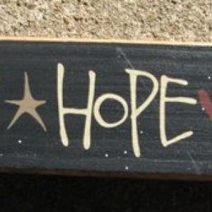 Primitive Country 82143FHL  Faith Hope Love Wood Block