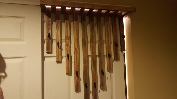 Rustic custom wall mounted hanger.