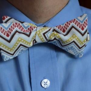 Mens Bowtie, Men's Bow Tie, Self-Tie Bow Tie, Self Tie Bowtie, Chevron Bowtie, Funky Bow Tie, Necktie, Men's Necktie, Men's Tie, Chevron Tie