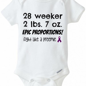 Epic Proportions customized preemie shirt