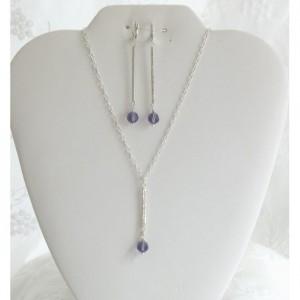 Gorgeous Bold Swarovski Crystal Hammered Sterling Silver Stick Necklace