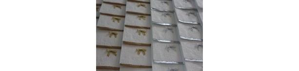Guest paper towel (12 towels ) - Silver or Gold Paper Towel - Disposable Towel - Gold Towel - Silver Towel - White Towel - Guest Towel