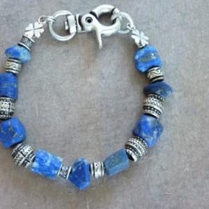 Afghan Lapis Rustic Bracelet