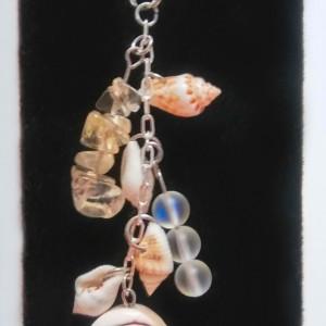 Seashell Citrine Charm