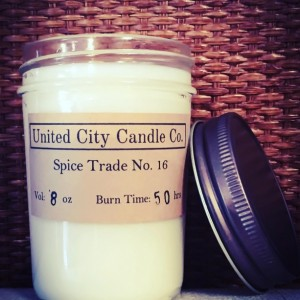 Spice Trade No. 16 --It's 1522 and Ferdinand Magellan sails the world for this clove. 100% soy candle. United City Candle Co.Made in USA