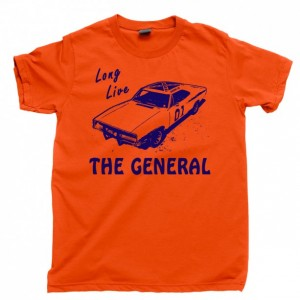 General Lee Men's T Shirt, 1969 Dodge Charger Dukes Of Hazzard Duke Boys Unisex Cotton Tee Shirt