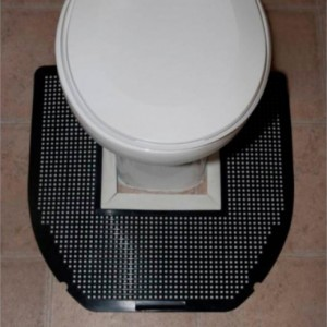SANITRO Toilet Urine Absorbent & Odor Remover Mat (6 Mats- 22 inch. x 22 inch. x 1/4 inch.)