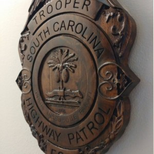 3d V Carved Personalized South Carolina State Trooper