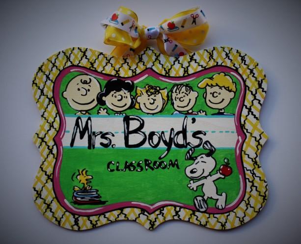 Peanuts Teacher Sign