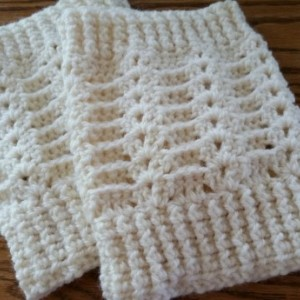 Crocheted Boot Cuffs Ivory