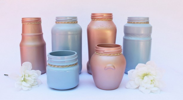 Phenomenal Decorative Jar Vase Set Of 6 Baby Shower Decorations Gender Reveal Ideas Baby Shower Table Decor Gender Reveal Centerpiece Download Free Architecture Designs Scobabritishbridgeorg