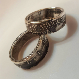 Kennedy Half Dollar Silver Coin Ring
